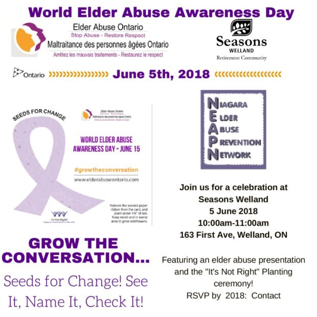 Niagara Elder Abuse Prevention Network – WEAAD Planting Ceremony
